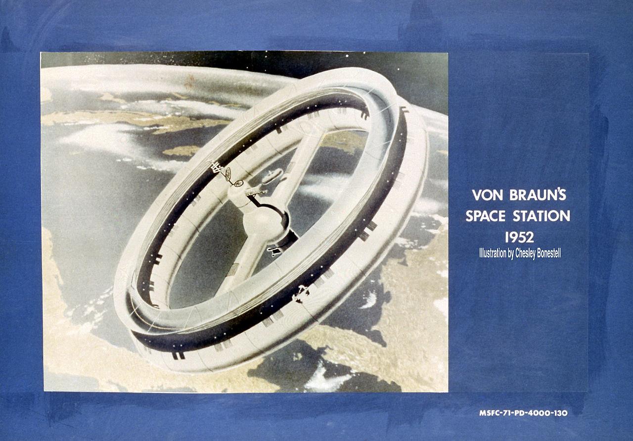 Von Braun 1952 Space Station Concept 9132079 Original