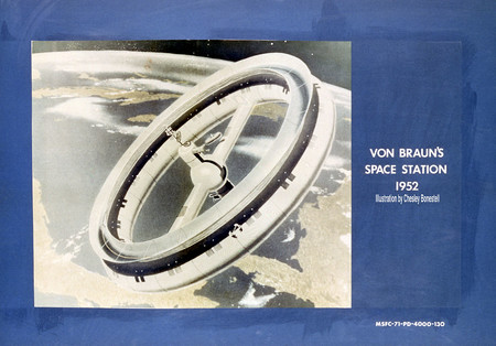 Von Braun 1952 Space Station Concept 9132079 Original