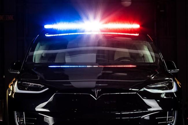 Tesla Model X Police Ontario 2