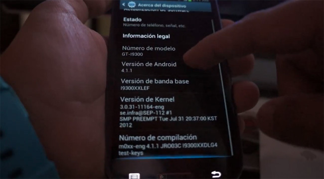 Samsung Galaxy SIII Jelly Bean