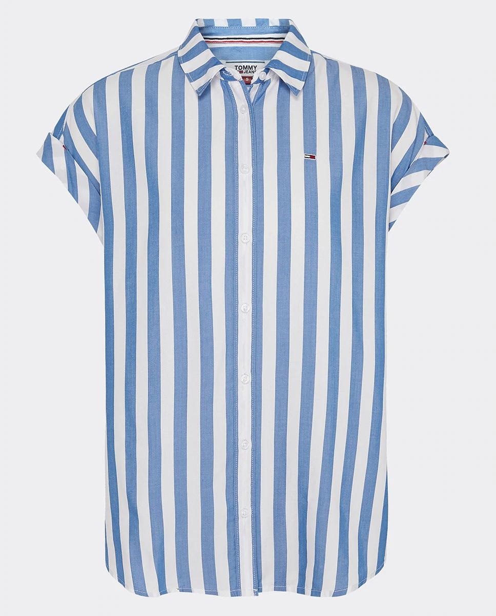 Camisa de rayas de manga corta de Tommy Jeans