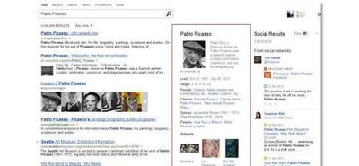 Bing rediseña su Social Sidebar y añade personalidades y lugares a sus resultados