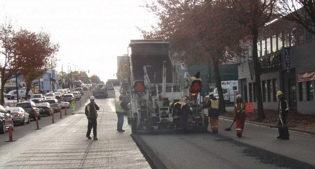 Asfalto reciclado en Vancouver