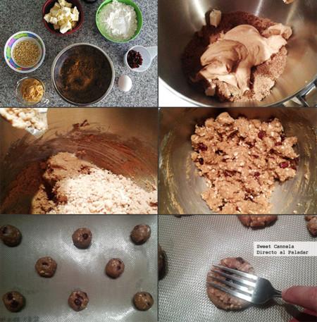 Preparación galletas crema de cacahuate