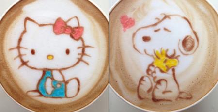 Latte Art a todo color de la mano del barista japonés Sugi