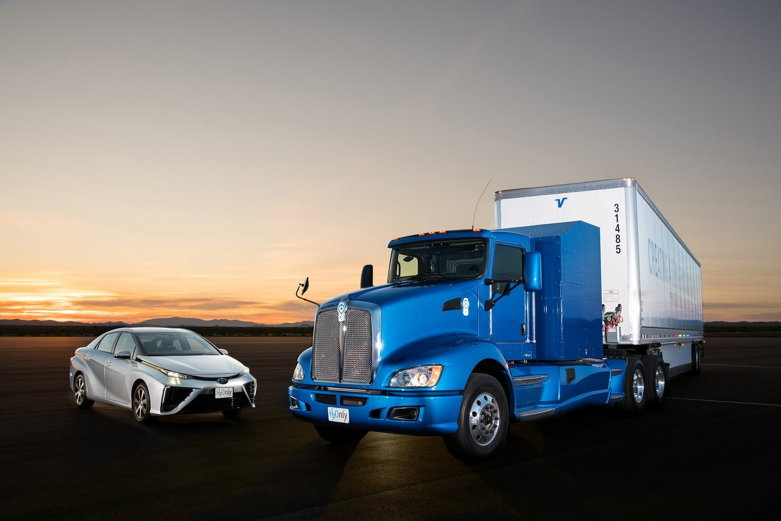 Camión de Toyota con pila de combustible