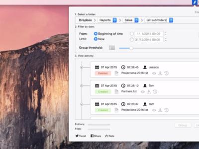 Revisions potencia los registros de tu Dropbox para que no te pierdas ni un cambio