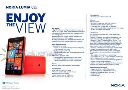 Nokia Lumia 625, 4.7 pulgadas de pantalla que se presentará mañana
