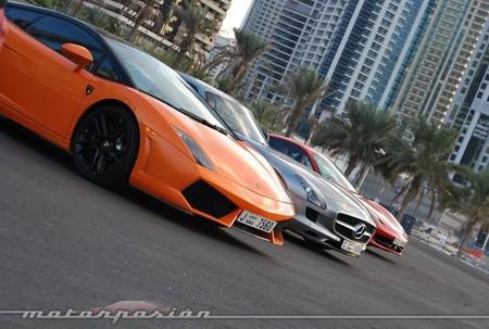 Lamborghini Gallardo, Mercedes-Benz SLS AMG y Ferrari 458 Italia
