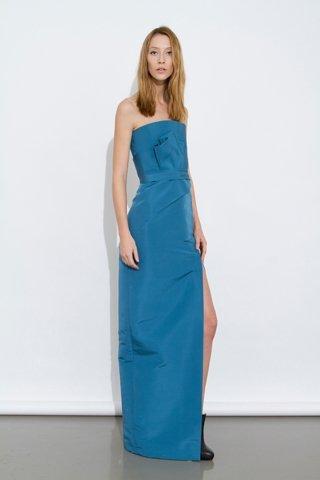 Vestido azul J. Mendel Pre-Fall 2012