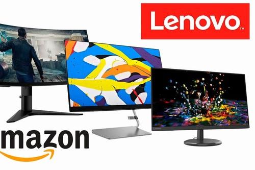 7 monitores Lenovo para jugar o trabajar con descuentos de hasta 97 euros esta semana, en Amazon