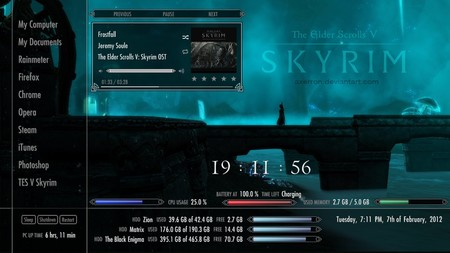 Skyrim Rainmeter Suite V2 By Axerron D4oz6t1