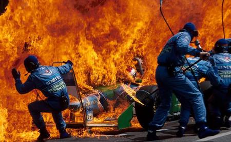 Jos Verstappen 1994 Hockenheim incendio
