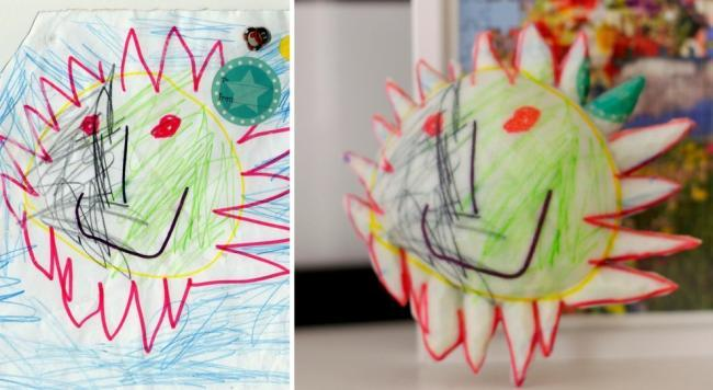 Escultura dibujo infantil