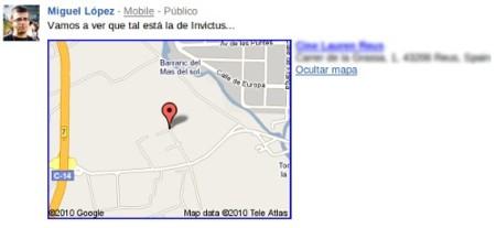Google Buzz mapa