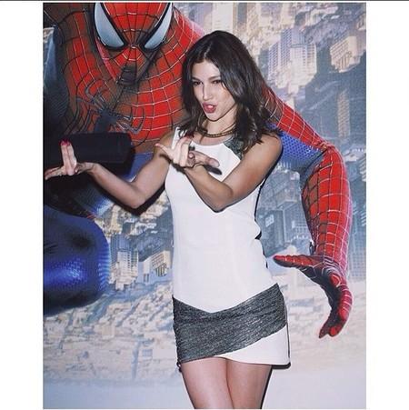Úrsula Corberó con Spiderman