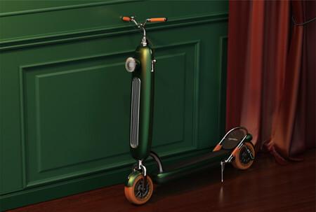 Este patinete eléctrico con aires de Vespa nos hace volver al pasado, pero de momento se queda en un boceto