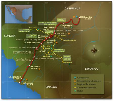 Mapa Barrancas del Cobre