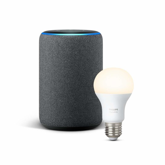 Echo Plus + Philips Hue White Bombilla LED E27