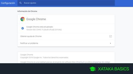 Cómo ver tu versión actual de Chrome, Firefox y Opera