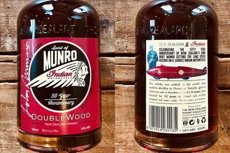 Indian Motorcycle honra la leyenda de Burt Munro con 953 botellas de whiskey edición limitada