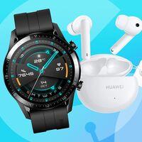 Chollazo: Amazon te deja el smartwatch Huawei Watch GT2 Sport con unos auriculares true wireless Huawei FreeBuds 4i de regalo más barato que nunca, por 129 euros