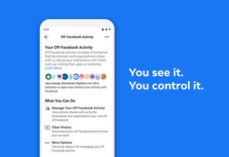 Ahora puedes ver y controlar los datos personales que aplicaciones y webs que utilizas comparten con Facebook