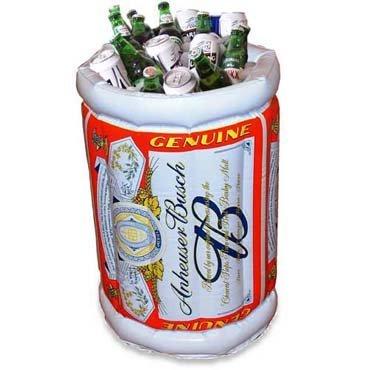Cubo hinchable para las cervezas