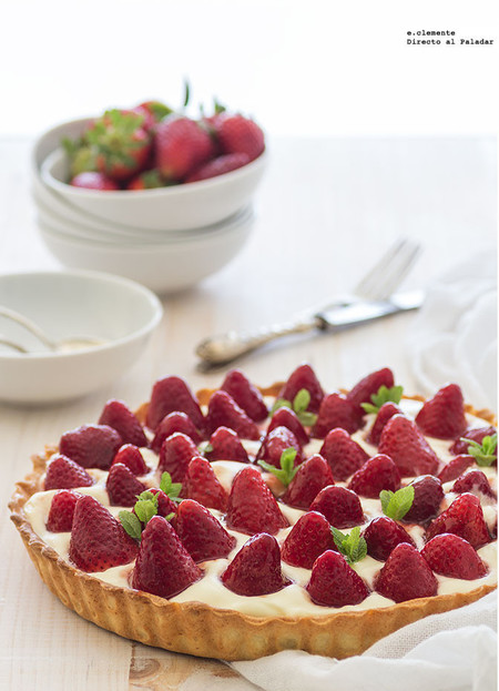 Tarta de fresas glaseadas