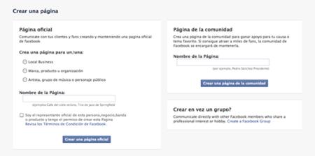 Páginas de la Comunidad en Facebook
