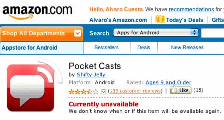 Amazon mal sitio para vender aplicaciones