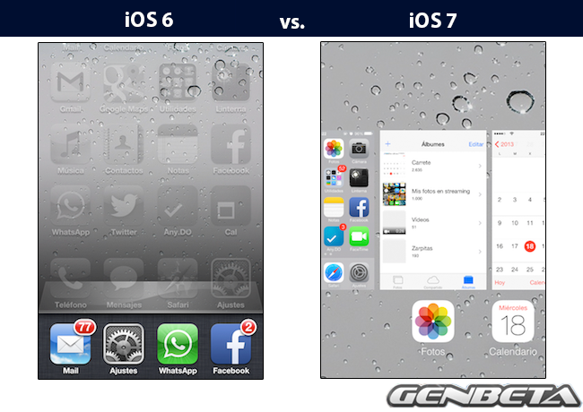 iOs 6 vs. iOS 7 Multitarea