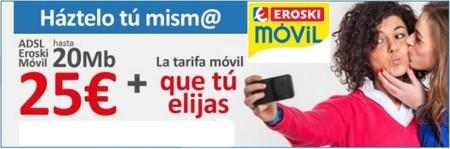 Eroski Móvil estrena la oferta convergente más barata de ADSL + móvil