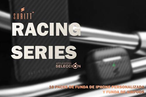 Participa y gana uno de los 10 packs de fundas Racing Series para iPhone personalizadas con tu nombre y AirPods de Suritt