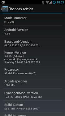 CyanogenMod en el HTC One