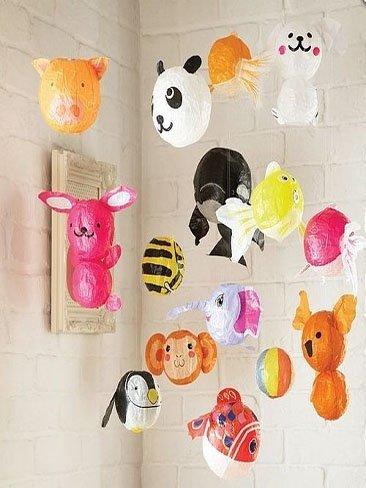 Globos japoneses de papel con forma de animales