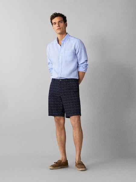 Bermudas De Corte Tailored En Rebajas De Massimo Dutti Para Un Verano Elegante