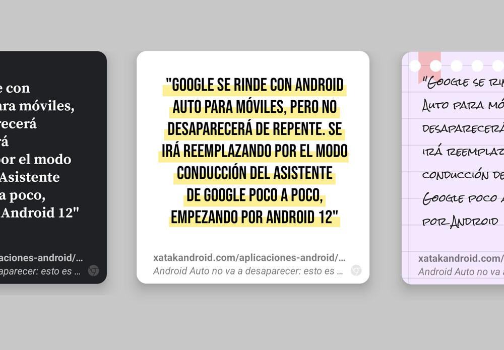 Chrome lanza dos experimentos: la búsqueda continua y su creador de tarjetas para compartir textos