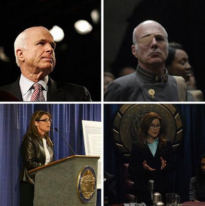 John McCain y sus parecidos con Battlestar Galactica