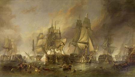 1280px The Battle Of Trafalgar By William Clarkson Stanfield 1