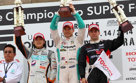 Podio Autopolis Super Fórmula 2014