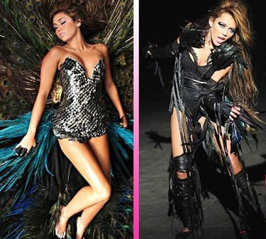 Miley Cyrus, menuda pájara  en el videoclip de 'Can't Be Tamed'