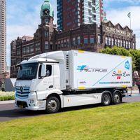El camión eléctrico Mercedes-Benz eActros sigue su ruta europea de pruebas, certificando autonomías de 200 km