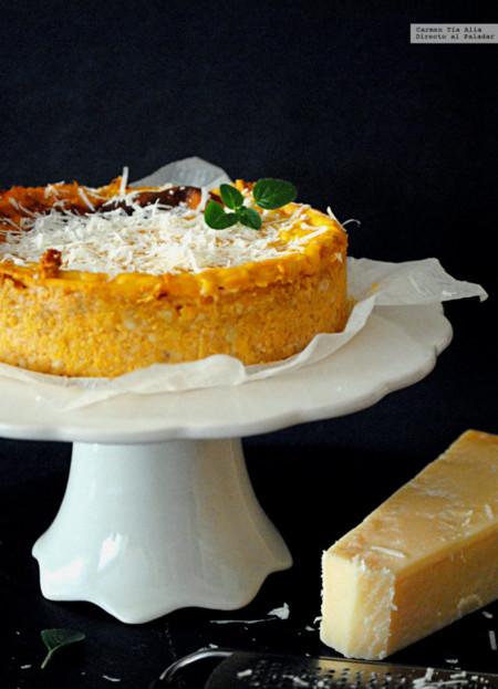 Pastel de calabaza y parmesano