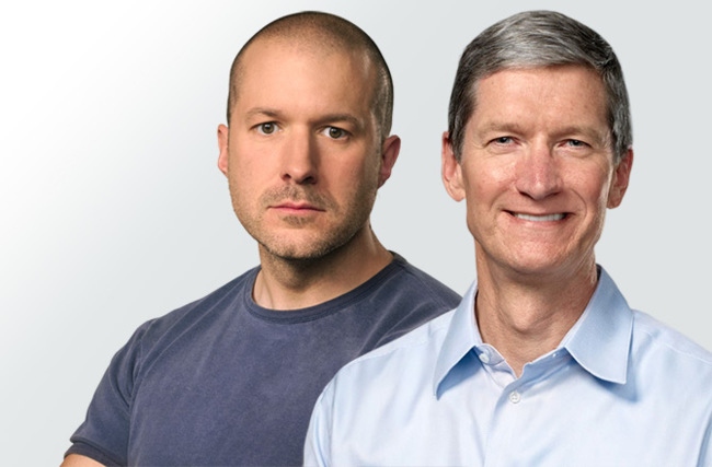 Jony Ive y Tim Cook