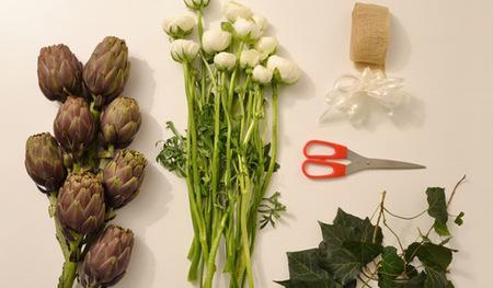 Originales ramos de coles y alcachofas para San Valentín
