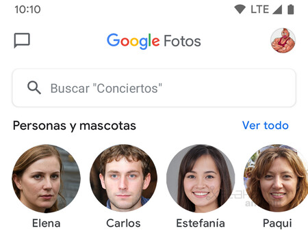 Google Fotos Personas