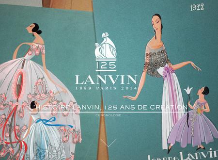 Para celebrar sus 125 años, Lanvin anima su logo
