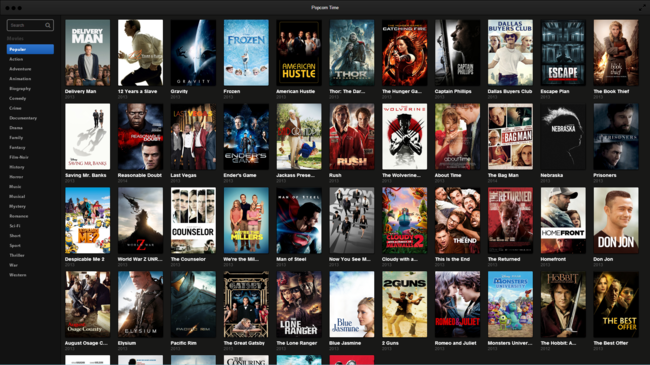 Popcorn Time Captura