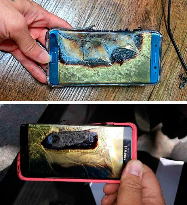 Samsung Galaxy™ Note 7 acumulador defectuosa